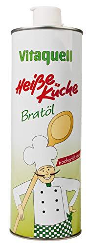 Vitaquell Heiße Küche Bratöl, 1000 ml zum Kochen oder Frittieren
