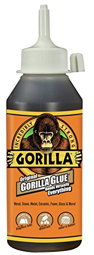 Gorilla 5002801 Original Waterproof Polyurethane Glue, 8 Ounce Bottle, Brown, (Pack of 1)