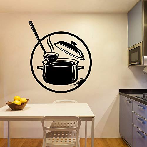 Linda cocina ecológica pegatina de pared pegatina para habitación de bebé mural impermeable autoadhesivo pegatina de pared A1 43x49 cm