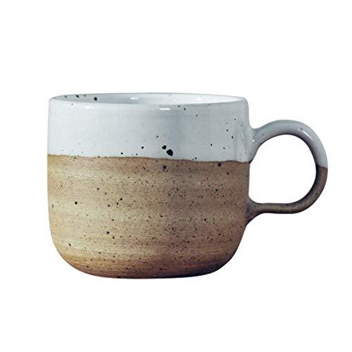 WMYATING Taza de café Asiáticas Tazas de té de cerámica, Durable, Taza de café, Tazas de té de la Vendimia, Color Surtido de Temperatura, Estilo Tradicional, Tazas Multiusos 7.68oz Taza de Desayuno