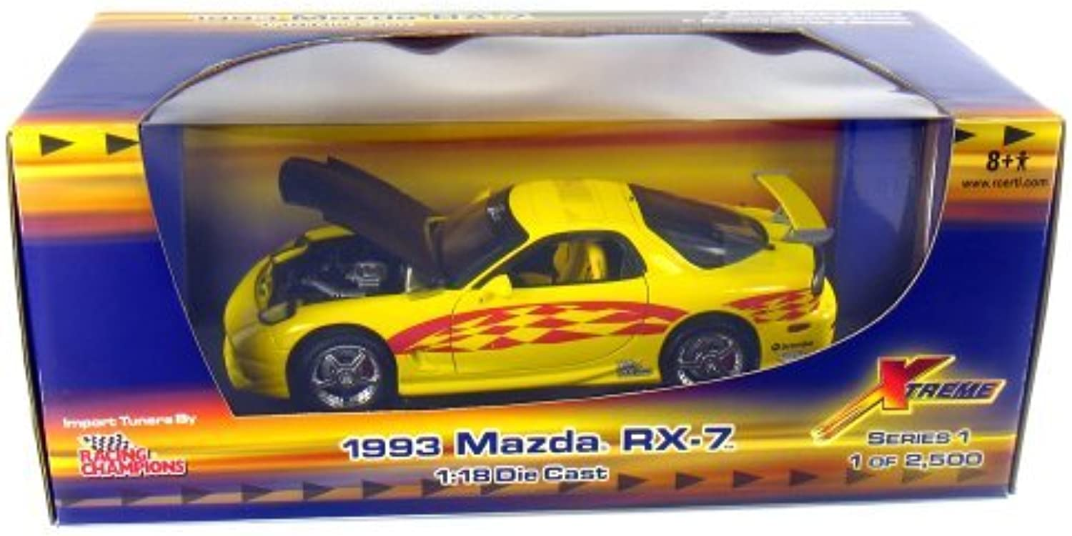 1993 Mazda RX-7 Import Tuners 1 18 Scale (Gelb rot Graphics) by Racing Champions