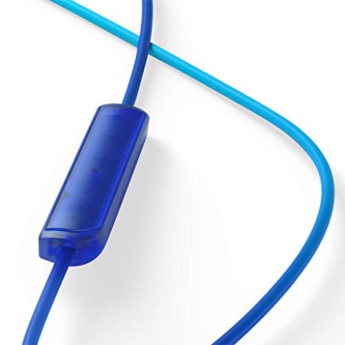 TCL SOCL300 In-Ear Kopfhörer mit Mikrofon (Geräuschisolierung, sicherer Halt, integrierte Fernbedienung und Mikrofon zur Steuerung von Musik und Anrufen, Echounterdrückung), Ocean Blue