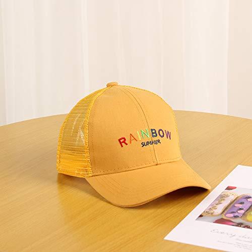 wtnhz Articoli di Moda Berretto a Rete Inglese con Alfabeto Arcobaleno Ricamato per Bambini e Bambini Regalo di Festa