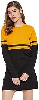 The Dry State Women Multi Coloured Dress WDRE_593A_1799_M Mustard-Black