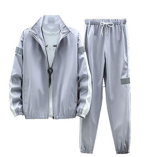 Męskie zestawy na co dzień 4XL 2021 wiosenna kurtka z zamkiem błyskawicznym męska duży rozmiar splot jogger dres + spodnie męskie odzież sportowa strój odzież sportowa odzież