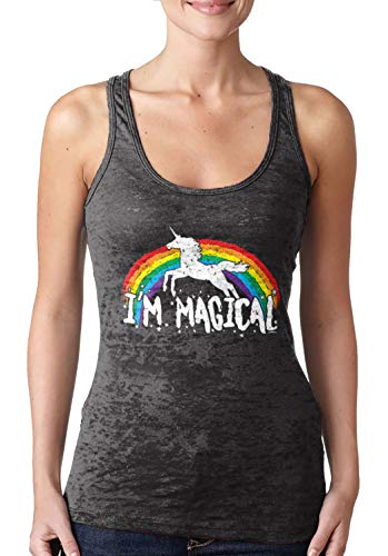 I'm Magical - Rainbow Unicorn Magic Ladies Racerback Tank Top 3