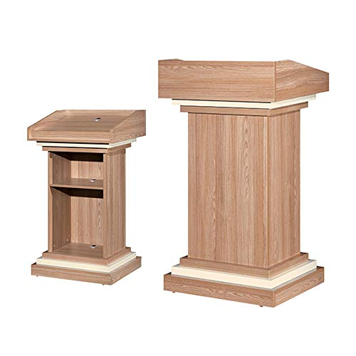 JRPT Rednerpult 25Mm Platte,Welcome Desk Großer Raum,Stehpult Mit Bücherregal Multifunktion Wunderschönen/braun / 70×50×120cm