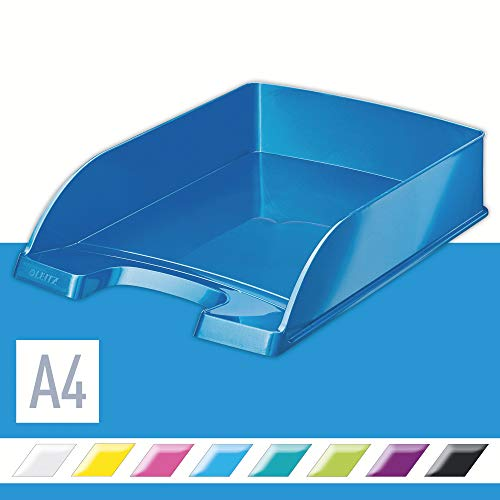 Leitz 52263036 Briefkorb WOW A4 blau metallic
