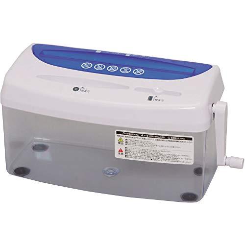 アイリスオーヤマ ハンドシュレッダー 家庭用 卓上 CD/DVD/カード細断可能 クロスカット ダストボックス3.2L コンパクト H1ME ブルー/ホワイト