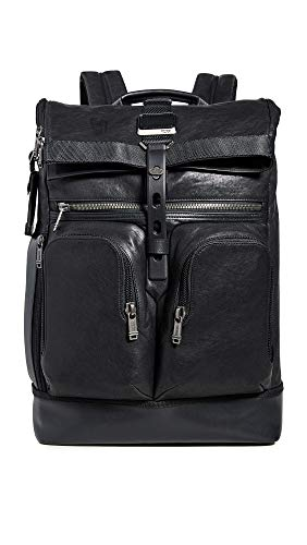 Tumi Men's Alpha Bravo London Roll Top Backpack, Black, One Size