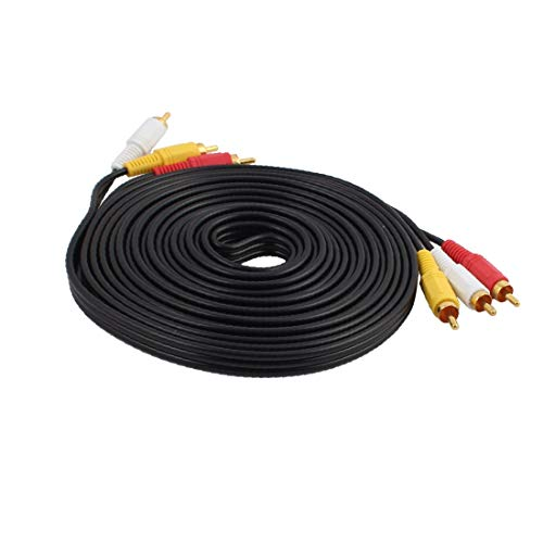 X-DREE Jack estéreo de 3,5 mm a 2 conectores RCA Cable de audio Cable AV Cable Adaptador 5M(3.5mm Stereo Jack to 2 RCA Connector Audio Wire AV Cable Adapter 5M
