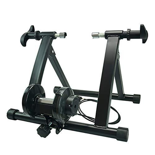 YPSM Indoor Fahrrad Trainer,Fahrrad Trainer Stand,Startseite Übung Fitness Fahrrad Stand,magnetisch Schwungmasse Stand,tragbare Faltbare Radfahren Ausbildung,für Männer Und Frauen Schwarz