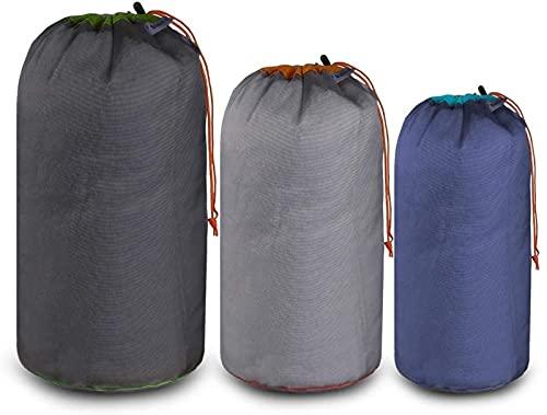 MWKL 3 Stück Outdoor Kordelzugbeutel Wiederverwendbare Zelthering Beutel Home Camping Reise Aufbewahrungspaket