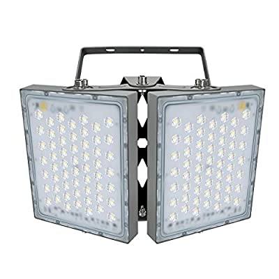 LED Flood Light, STASUN 200W 18000lm Outdoor Security Lights with Wider Lighting Angle, 5000K Daylight, Adjustable Heads, IP65 Waterproof Outdoor Lighting for Yard, Court, Street, Parking Lot