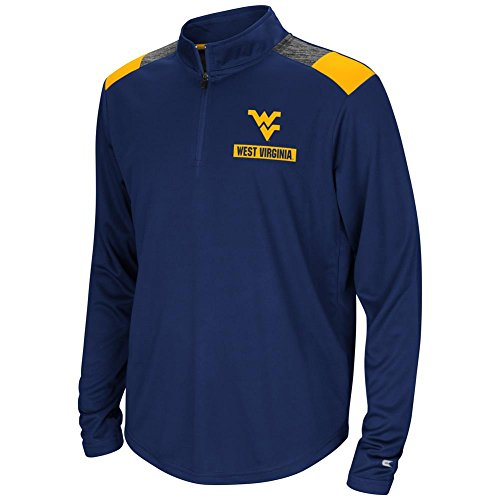 colosseum ncaa virginia t shirts Colosseum West Virginia Mountaineers Youth Boys 1/4 Zip 99 Yards Pullover