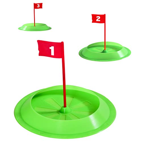 GoSports Pure Putt Challenge Putting Cups 3 Pack - Practice Putting Indoors & Outdoors