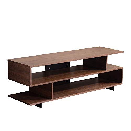 Amazon Marke - Movian Ljungan, TV-Tisch mit Regalaufbewahrung, 150 x 450 x 51 cm, Nussbaumoptik