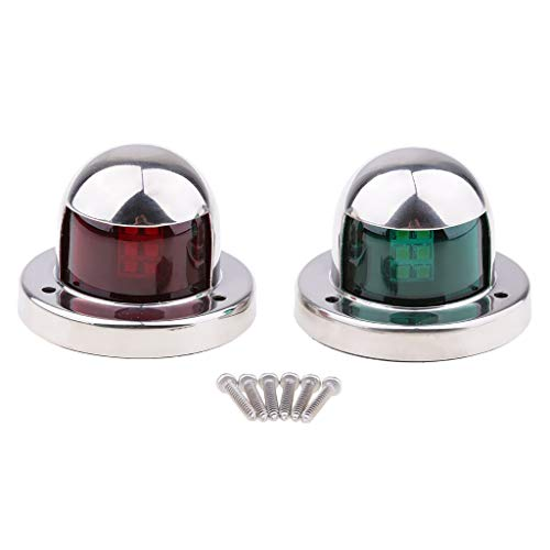 1 Pair Stainless Steel 12V Led Bow Navigation Light Red Green Sailing Signal Light for Marine Boat Yacht Warning Light Boat Part