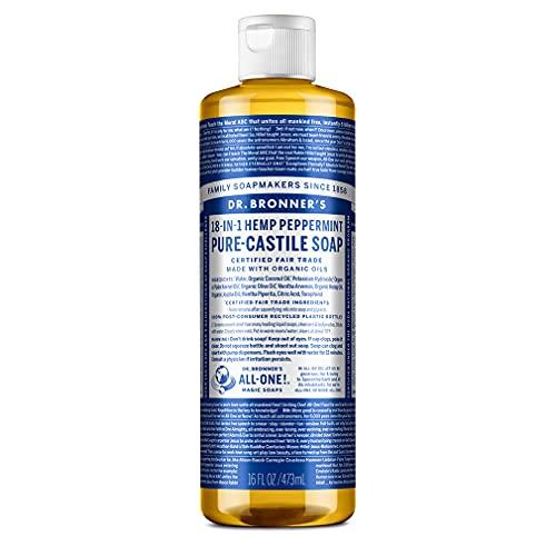 Savons Magiques de Dr. Bronner - Organic Peppermint Castille Savon Liquide Dr Bronners 16 oz