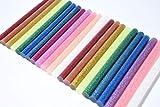 Barras de Pegamento Termofusible 100 piezas Barras de Silicona Caliente 10 colores 7 * 100mm Adhesivos Coloreados del Arma del Pegamento para DIY Oficio del arte Caza de Focas y Reparacion Rapida
