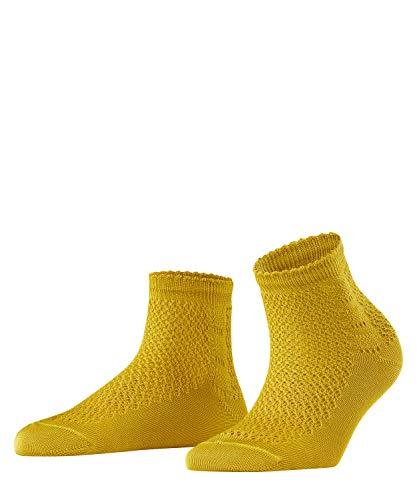 FALKE Damen Socken Basketwork - 80% Baumwolle, 1 Paar, Gelb (Deep Yellow 1007), Größe: 35-38