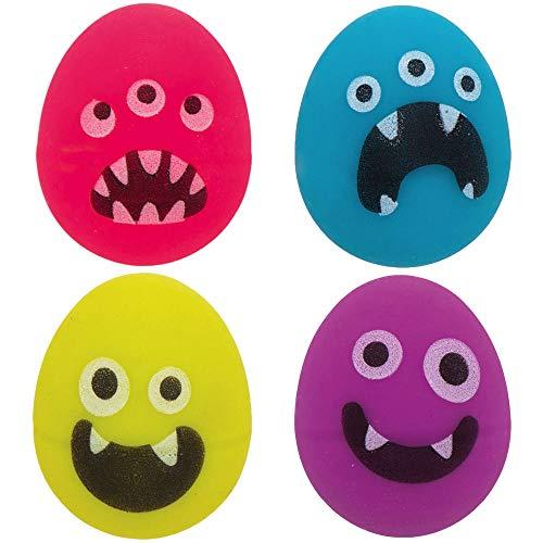 Baker Ross AX619 Monster Bunch Ei Flummis - 10 Stück, Lustiges Spielzeug Für Kinder Zur Winterzeit Perfekte Party, Beute, Preis Oder Korbfüller