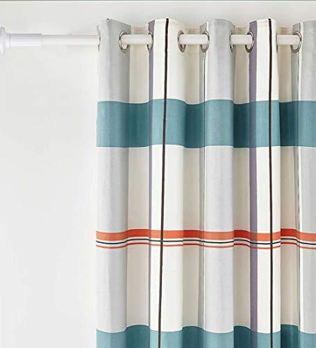 92 cm-430 cm Extra Lange Gardinenstange, Kein Bohrer erforderlich Ausziehbare Gardinenstange aus Edelstahl Extra lange Spannvorhangstange für große Fenster, Duschraum, Schränke (Weiß, 378-430cm)