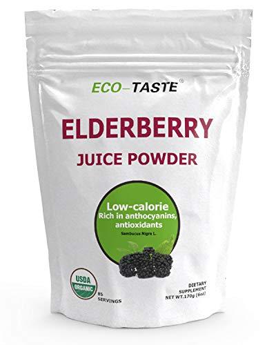 Organic Elderberry Juice Powder, Supports Healthy Immune System, Non...