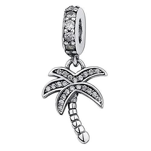 Pandora 925 Sterling Silver Charm originale Wit Crystal Coconut Pendant Fit Women CollanaGioielli d'amore fai da te