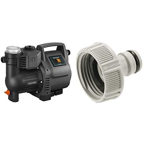 Gardena Hauswasserautomat 3500/4E: Robuste Hauswasserpumpe & Hahnverbinder 33.3 mm (G 1 Zoll): Anschluss für Wasserhähne mit Gewinde, wasserdichte Schlauchverbindung, einfache Handhabung