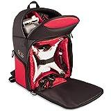 Bower Sky Capture Series SCS-BPS Backpack for DJI Phantom 3 Standard/Professional/Advanced, Phantom 1, 2 and 4 Drones, Black/Red