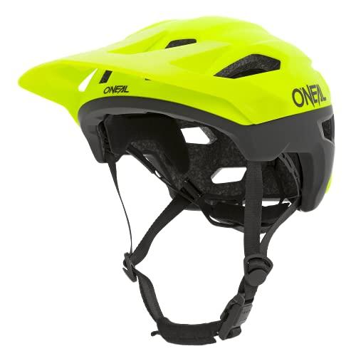O'NEAL | Mountainbike-Helm | MTB All-Mountain | Lüftungsöffnungen zur Belüftung & Kühlung, Größenverstellsystem, Sicherheitsnorm EN1078 | Trailfinder Helmet Split | Erwachsene | Neon-Gelb | Größe S/M