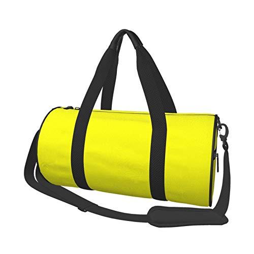 Bolsa de deporte para gimnasio, ligera, potable, de lona, bolsa de hombro, cuadrada, color amarillo, lima, gran capacidad, deportes, viajes, multifunción, bolsa para gimnasio, fitness, etc