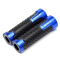 """グリップ 7/8""""22mmマスタークラフトCNCアルミニウムラバーバイクハンドルバーグリップヤマハXmax300X-max 3002017/2018/2019/2020特別アクセサリー バイクグリップ (色 : 青い)"""