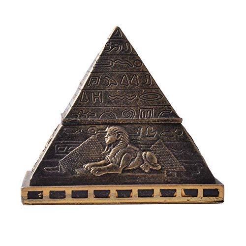 Mnjin Decoracin del hogar Estatua Ornamento Escultura Decoracin Estatuas y Figuras Pirmide egipcia Caja de Almacenamiento Caja de Pastillas Resina Decoracin del hogar