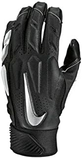 Nike D-Tack Hydragrip Full Protection Football Defensive Linesman Gloves (Black Wolf Grey) Adult 4XL