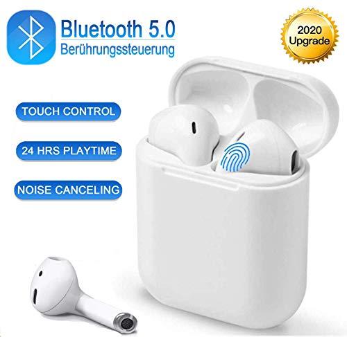 Bluetooth Kopfhörer, kabellose Kopfhörer, Sportkopfhörer, IPX7 wasserdicht, 3D-Stereo-Rauschunterdrückung, geeignet fürAndroid/iPhone/Apple AirPods Pro/AirPods/AirPod/AirPods 2