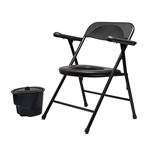 Super licht opvouwbare commode, PP kunststof plaat draagbare commode stoel met rugleuning warm in de winter en koel in de zomer