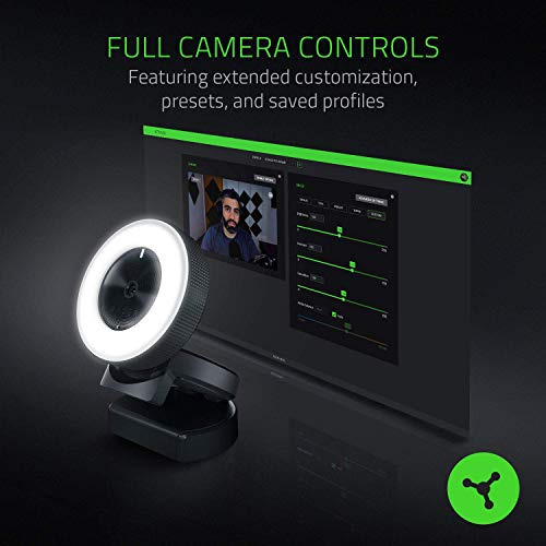 RazerKiyo-多段点灯式リングライトを搭載した配信向けデスクトップカメラ【日本正規代理店保証品】RZ19-02320100-R3M1