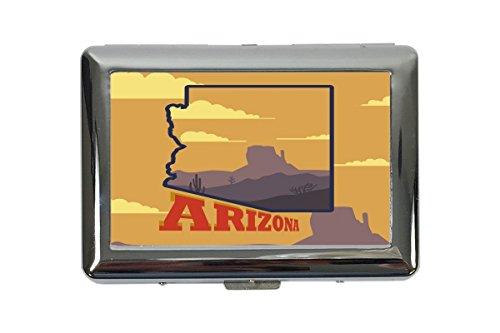 portasigarette in Metallo Vacanza Agenzia Viaggi Arizona Stampato
