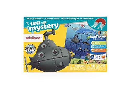 Miniland- On The Go: Sea Mistery Juego magnético para niños, Multicolor