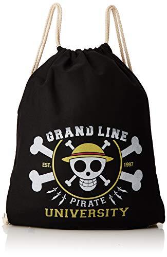 TEXLAB - Grand Line Pirates University - Turnbeutel, schwarz, Einheitsgroße
