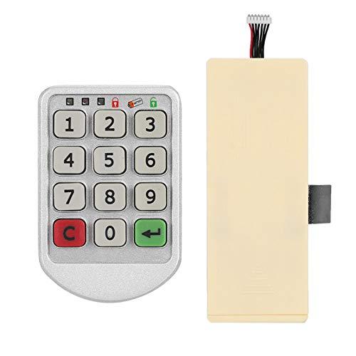 Cerradura con código Cerradura de Seguridad Seguridad Cerradura electrónica Digital antirrobo Inteligente Cerradura electrónica con código para gabinetes de Oficina para el hogar para