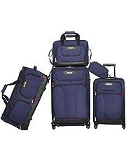 حقيبة أمتعة سوفت سايد سبينر من أميريكان إكسبلورر - مجموعة من 5 قطع