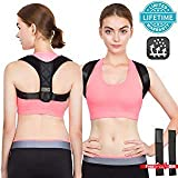 Posture Corrector for Women Back Corrector for Men Effective and Comfortable Adjustable Posture Corrector Belt Invisible Upper Clavicle Straightener (Posture Corrector-M(25'-45'))