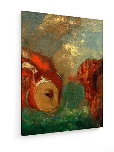 Odilen Redon - Angelika und der Drache - 30x40 cm - Leinwandbild auf Keilrahmen - Wand-Bild - Kunst, Gemälde, Foto, Bild auf Leinwand - Alte Meister/Museum