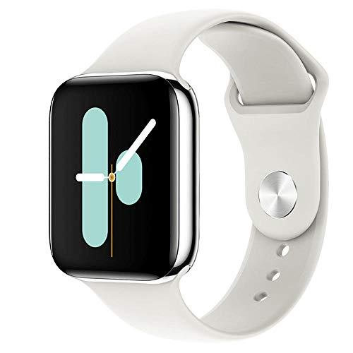 Yumanluo Smart Band Smart Watch,Presión Arterial y frecuencia cardíaca, Levante la Mano para iluminar la Pantalla, Pulsera de Control de música, Blanca,Pulsera Inteligente con Pulsómetro