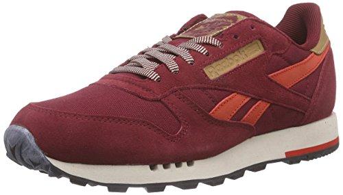 Reebok Classic Leather Utility, Herren Sneakers, Rot (Collegiate Burgundy/Motor Red/Stucco/Black), 42.5 EU (8.5 Herren UK)