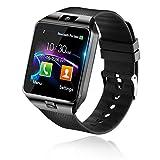 Baiguni Bluetooth Smart Watch Reloj Inteligente Mujer Hombre Smartwatch Pantalla táctil con Ranura para Tarjeta SIM Cámara Podómetro Moviles Pulsera de Actividad para Android iOS