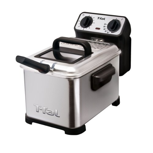 T-fal ティファール ディープフライヤー Family Pro 2.6-Pound 3-Liter Deep Fryer with Stainless Steel Waffle, Silver 【並行輸入品】